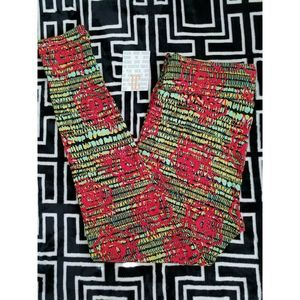NWT LuLaRoe TC Leggings Red Roses